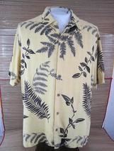 CARIBBEAN Hawaiian ALOHA shirt L pit to pit 24 silk blend tropical tiki ... - $14.69