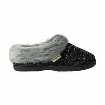 Dearfoams Spacedye Womens Clog Slippers L 9-10 Black NEW - $36.61