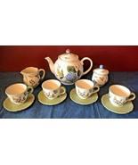 Princess House Vintage Garden Tea Pot Service for 4 w Sugar Creamer Plat... - $79.95