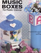 Music Boxes For Plastic Canvas PATTERN/INSTRUCTIONS Gazebo, Church, Baby... - $5.37