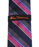 Ben Sherman Mens Necktie Silk Tie RICKETT Strip... - $55.00