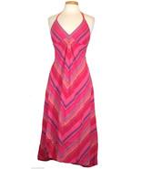 Tommy Hilfiger Dress Chevron Stripe Halter Sund... - $69.00