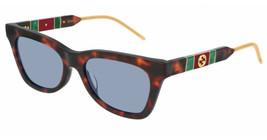 NEW Gucci Sunglasses GG0598S 002 Havana/Blue Lens Design 53mm - $281.30