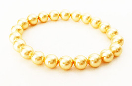Bracelet Embellished with Crystal Pearls from Swarovski Gold Color - $12.79