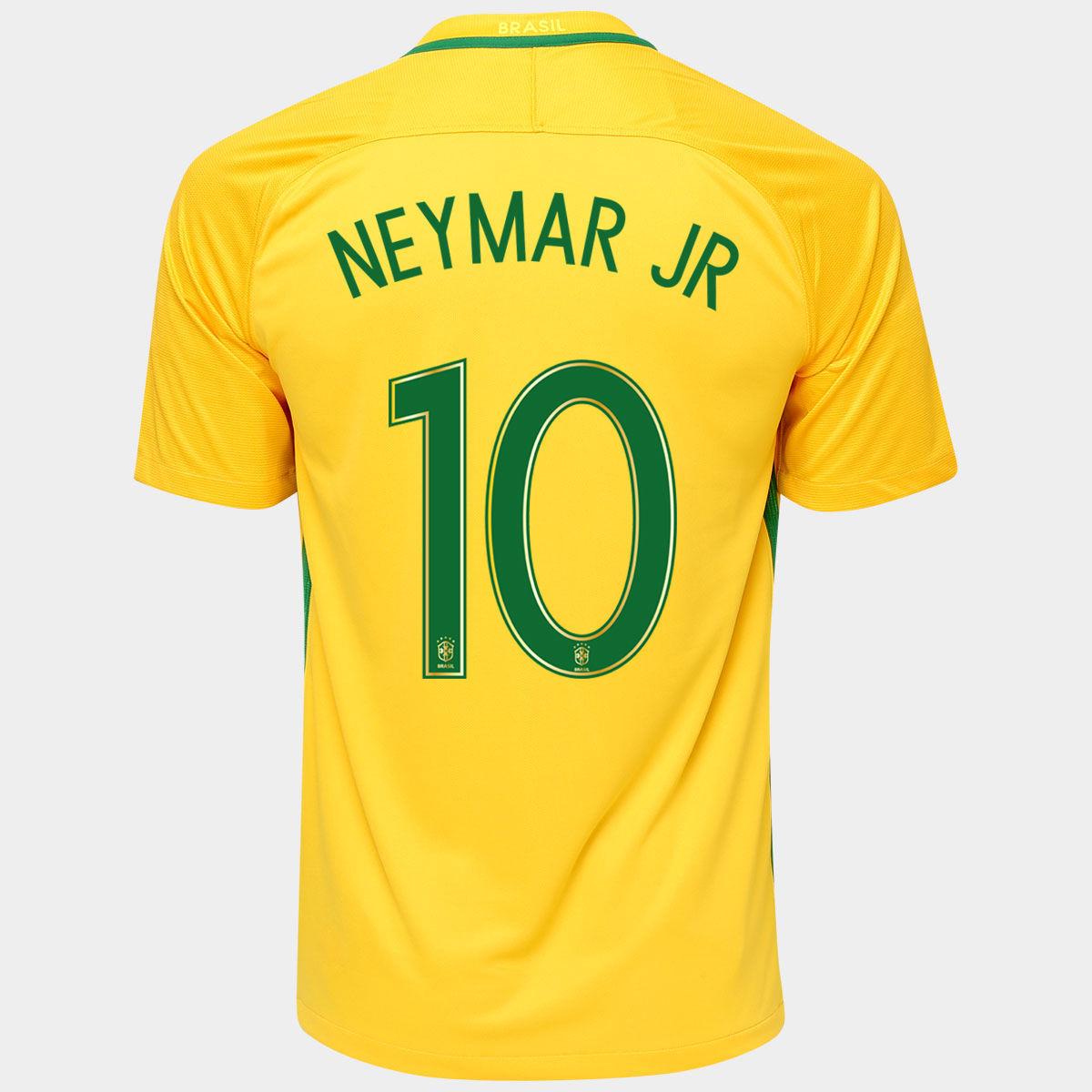 brazil 2016 neymar jr 10 jersey nike brasil soccer. Black Bedroom Furniture Sets. Home Design Ideas