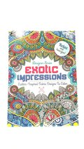 Designer Series Exotic Impressions Adult Coloring Book - $3.91