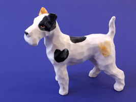 Vintage Porcelain Wire Fox Terrier Dog Figurine... - $19.95