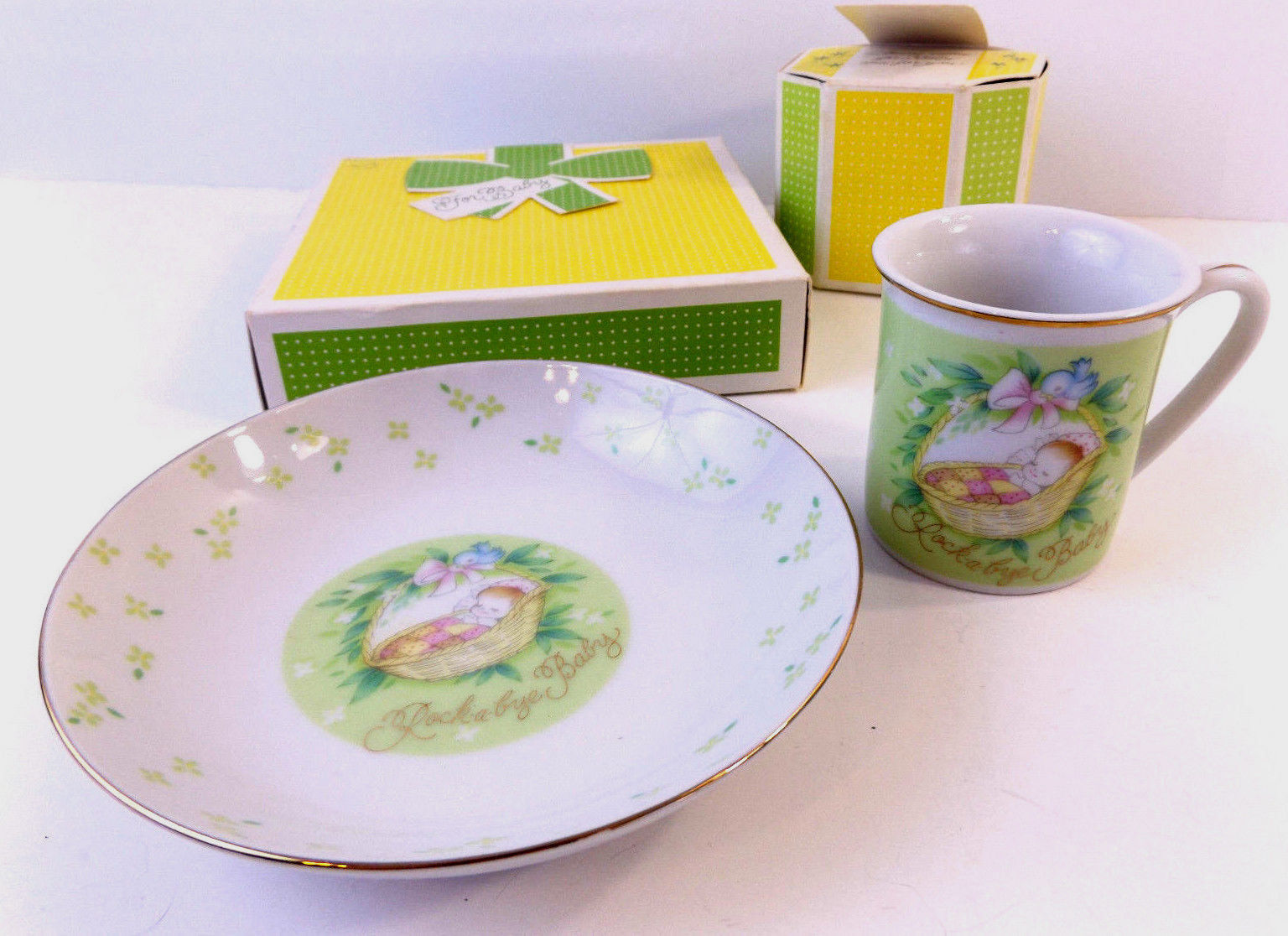 Baby Gifts For Japanese : Vintage george good china baby cup dish gift set rock a