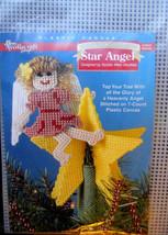 Plastic Canvas Christmas Tree Topper Star Angel Kit Needlecraft Shop NEW... - $11.95