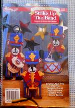 Plastic Canvas STRIKE UP THE BAND Christmas Bear Kit Needlecraft Shop Or... - $11.95