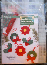 Needlecraft Shop Plastic Canvas Kit Traditional Trimmings Christmas Orna... - $11.95