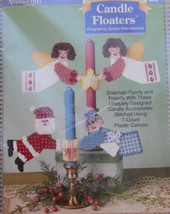 Plastic Canvas CHRISTMAS CANDLE FLOATERS ANGELS Kit Needlecraft Shop New... - $11.95
