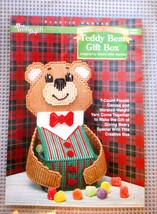 Plastic Canvas CHRISTMAS TEDDY BEAR GIFT BOX Craft Kit Needlecraft Shop ... - $11.95