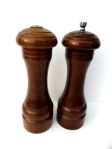 Olde Thompson Wood Salt Shaker & Pepper Grinder Vintage Set MidCenturyt ... - $8.95