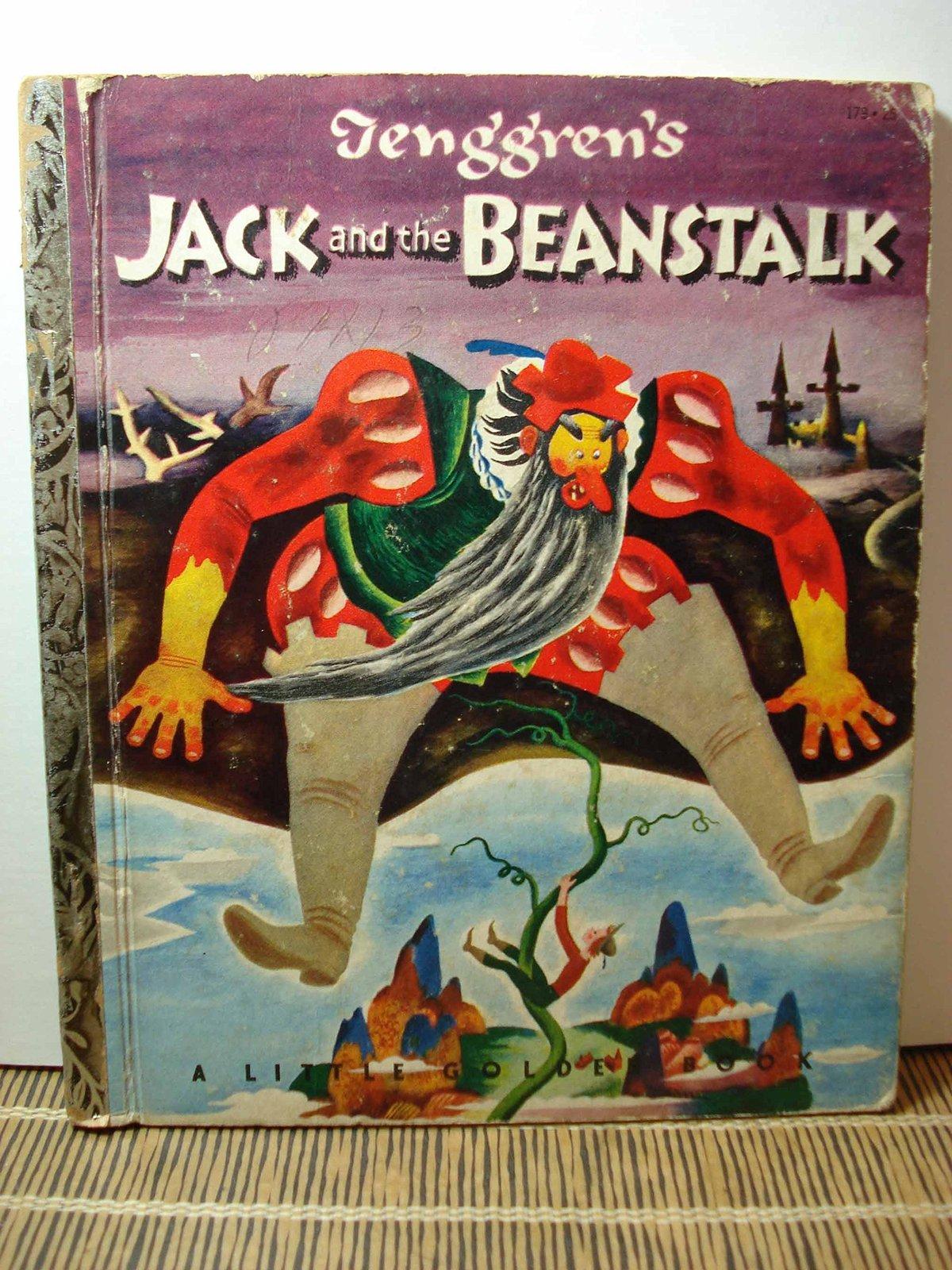 Tenggren's JACK and the BEANSTALK Little Golden Book #179 (1953) A Edition VG