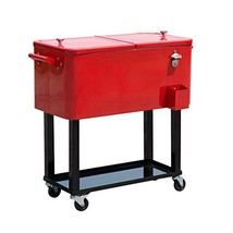 Outsunny B20010 Rolling Ice Chest Portable Pati... - $0.00