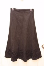 Solitaire by Ravi Khosla Long Trumpet Skirt Size S Rosette Detail Boho M... - $17.82