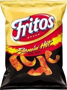 Fritos Flamin' Hot Flavored Corn Chips, 9.25 oz. (1 Bag)