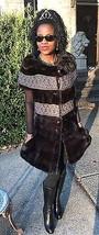 New designer Custom 2 tone Gray& Sable brown Mink fur Vest coat dress jacket S-4 - $799.99