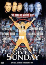 Any Given Sunday (DVD, 2001, 2-Disc Set, Oliver Stone Collection) - €6,21 EUR