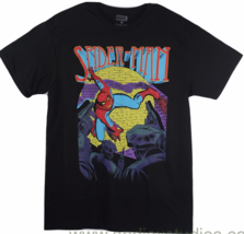 Spiderman Comic Marvel Black Graphic T-Shirt - £11.26 GBP