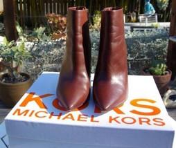 MICHAEL KORS megan mahagany ankle boot sz 8M - $74.25