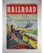 Vintage Railroad Magazine March 1949 Train on Cover - $14.80