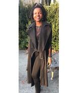 Fab Designer custom Wool Blend de structured Long gray Vest Coat Jacket ... - $399.99