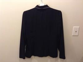 Moving On 100% Polyester Black Button Up Blazer Size 12 image 4