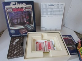 VTG PARKER BROTHERS CLUE VCR MYSTERY GAME CARDS TRAY TAPE NOTEPAD COMPLETE - $6.85