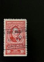 1954 $10 U.S. Internal Revenue, Documentary, R.J. Walker Scott R677 Used - $2.26