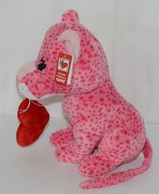Ganz Brand HV9105 Pink Spotted Plush Chewey Style Leopard With Heart image 4