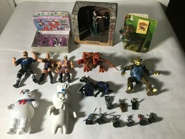 "Action Figure Lot Of (20) 2"" to 8"" WWE/WCW Stay Puft Dragon Ninja Turtles Minis - $27.09"