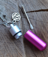 Bottle necklace with spoon, bottle necklace, stash necklace, Aluminium (... - $19.99