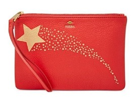 New Fossil Women Gift Small Wristlet Leather Wallet Variety Colors - $31.44