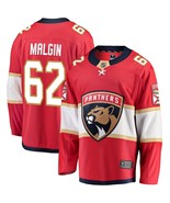 Men's Denis Malgin #62 Player Jersey Sewn on Florida Panthers 2018 Red New - $75.19