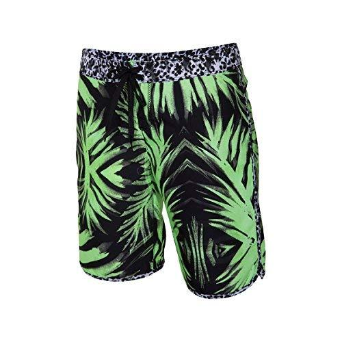 Hurley Supersuede Printed 9in Beachrider Board Short - Women's Flash Lime Palm,
