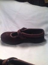 Merrell Brown Suede Ortholite Q Form Air Cushion Mary Jane Mules SZ 5.5M image 5