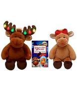 Build a Bear Hal and Holly Stuffed Plush Moose ... - $116.95