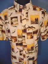 Woolrich Fishing Lure Shirt NEW Men Size XL Short Sleeve Button Up Outdo... - $30.25