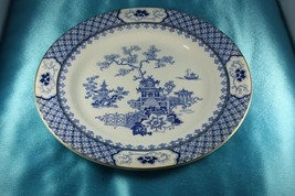 "J & G MEAKIN  Blue PAGODA  Dinner Plate 9 3/4""  Blue White  England 1912 - $24.99"