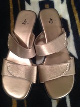 Stride Shoes on Leather Tabby Slip 9M Brown 55 MRSP Sz Sandals Women's Life wHnq5AfCv