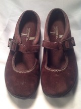 Merrell Brown Suede Ortholite Q Form Air Cushion Mary Jane Mules SZ 5.5M image 6