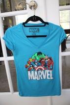 Marvel Comics Womens Size 3/5 Avengers Blue T-s... - £11.54 GBP