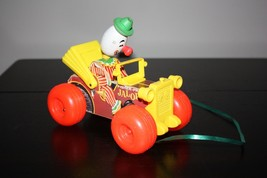 Fisher Price JALOPY Wood Vintage Clown Pull Toy 724 - $16.99