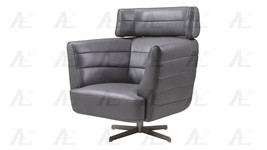American Eagle EK-CH08A-GR Dark Gray Swivel Accent Chair Full Italian Le... - $1,187.00