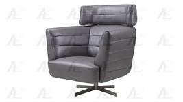 American Eagle EK-CH08A-GR Dark Gray Swivel Accent Chair Full Italian Le... - €1.024,95 EUR