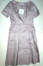 New NWT 8 Womens 44 Luisa Beccaria Silk Dress Designer Italy Pockets Pur... - $1,184.00