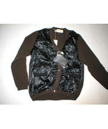 New NWT Womens 6 Designer Marni M Sweater 42 Cardigan Italy Black Brown ... - $1,098.00