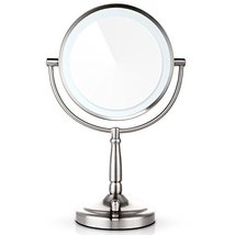 Miusco 7X Lighted Magnifying Two Sided Makeup Mirror Battery and AC Adapter - $59.85